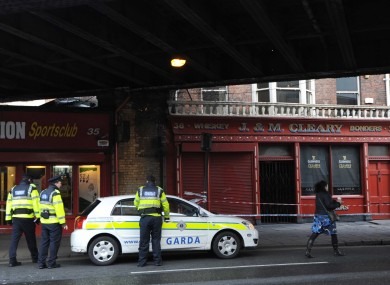 Gardai investigating the incident on Amiens Street where a man was hit by a car early this morning and died.