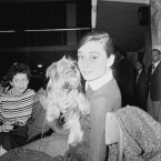 Audrey Hepburn and her Yorkshire terrier Famous at Ciampano Airport in Rome in 1958. She was on the way to the Belgian Congo to film The Nun's Story. Part of the movie is also shot in Rome's Cinecitta. (AP Photo/Ivan Croscenco/Press Association Images)