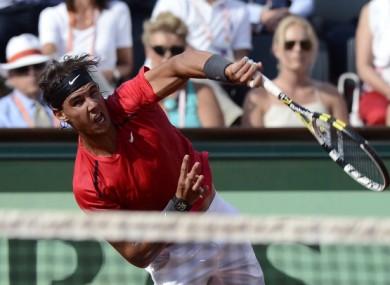 Nadal at Roland Garros today.