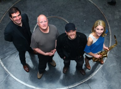 Fiachna Ó Braonáin, Christy Moore, Ryan Sheridan and Jacqui Carroll at the launch of the prize in Dublin's Temple Bar