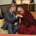 The Prince of Wales and Dalai Lama at Clarence House in London. (Gareth Cattermole/PA Wire)