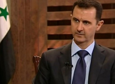 A defiant Assad on German TV in an interview broadcast last night.