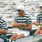 Mark (center) in his Trinity rowing days