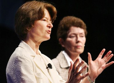 Sally Ride (left) and her partner Tam O'Shaughnessy, pictured in 2008.