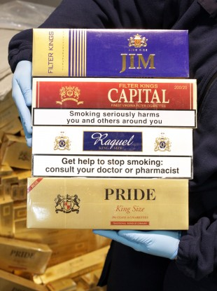Illegal cigarettes seized at Dublin Port in May