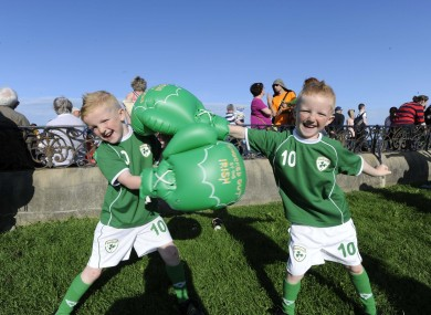 Robert and Troy Mulligan from Crumlin travelled to Bray to cheer on Katie yesterday.