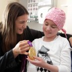 Katie Taylor meets eight-year-old Sinead Summers from Berrings, Co. Cork. (Photo: Mark Stedman/Photocall Ireland)