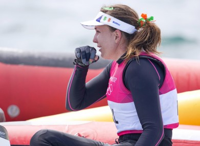 Annalise Murphy was distraught after her final race.