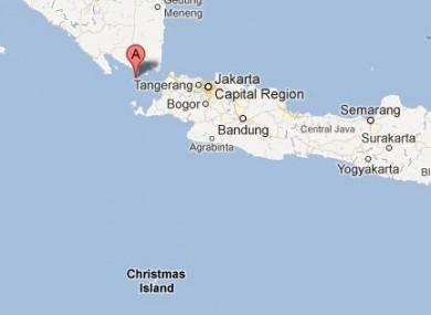 Indonesia's Sunda Strait.