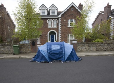 The recent high-profile eviction in Killiney, South Dublin.