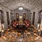 The wine cellar - an atmospheric place to dine. (Estate agent: sothebysrealty.ca)