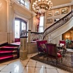 The mansion's winding staircase. (Estate agent: sothebysrealty.ca)