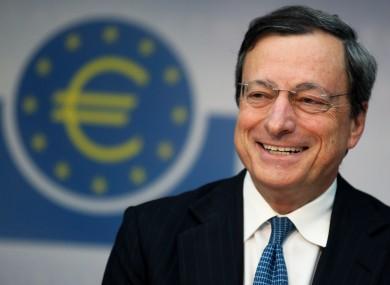 European Central Bank president Mario Draghi.