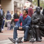 Salman Khan takes a moment during filming on Grafton Street, Dublin. (Photo: Tourism Ireland)