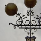 The sign at Carthy Jewellers and Pawnbrokers, its '5' containing a bullet hole from the 1916 Rising.