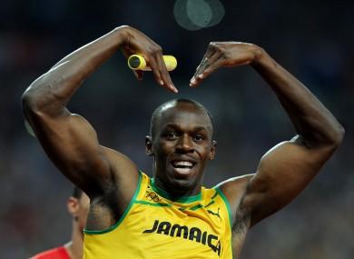 Bolt at the London Olympics.