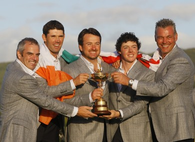 Irish golfers, north and south, have played a significant role in Europe's Ryder Cup performances.