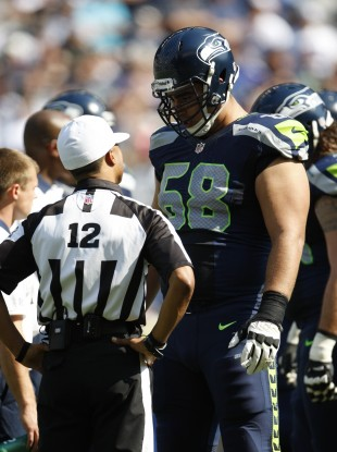 NFL replacement referee Donovan Briggins during the game between the Dallas Cowboys and Seattle Seahawks.