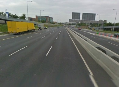 File photo of the N4 at Liffey Valley, where the drugs were recovered from two cars on Monday evening.