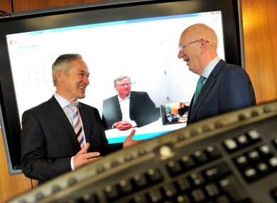HubSpot chief operating officer JD Sherman, right, announced the development with jobs minister Richard Bruton earlier today.