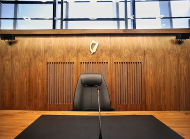 A courtroom in the Criminal Courts of Justice in Dublin