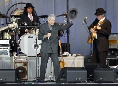 Old favourite: Leonard Cohen playing IMMA in 2008.