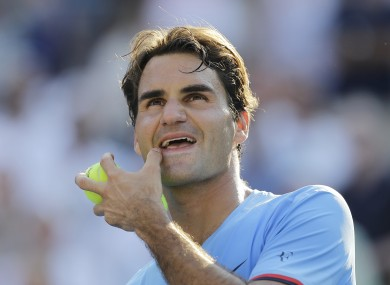Federer will now face either Tomad Berdych or Nicolas Almagro.