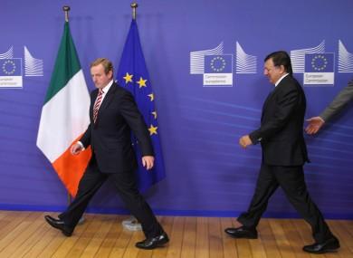 Taoiseach Enda Kenny and EC President José Manuel Barroso in Brussels on Wednesday.