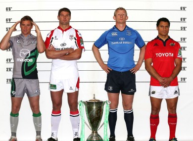 Usual suspects: The provincial captains line up.