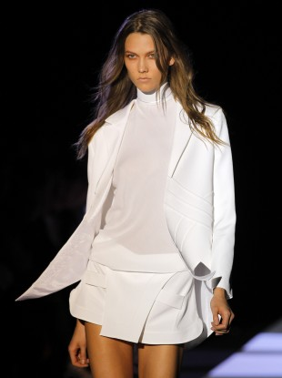 A model wearing a creation by Hakaan Yildirim in Paris in October last year
