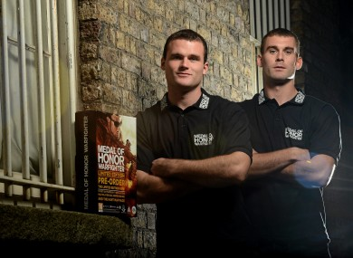 Eamon and Neil McGee at the launch of Medal of Honor Warfighter, which was released on 26 October.
