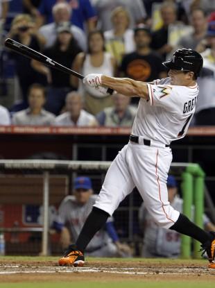 Adam Greenberg swings and misses for strike three.