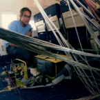 Now it's time for the scientists to investigate. First they review the footage from the 19 cameras inside the plane.