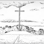 The Papal Cross was erected as a centre piece of the altar in the Phoenix Park for the visit of Pope John Paul II when he visited Ireland in September 1979. The Cross which was fabricated from steel girders was designed by Ronnie Tallon of the architectural firm of Scott, Tallon and Walker. More than one million attended the Mass celebrated by the Pope on that occasion. Two other major religious gatherings which took place in the Park were the 1932 Eucharastic Congress and the Centenary of the Catholic Emancipation in 1929.
