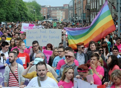 The 'March for Marriage' in Dublin earlier this year