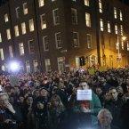 Thousands gathered outside Leinster House last night (Image: Sam Boal/Photocall Ireland)