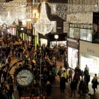 Grafton Street Christmas lights. Sparkly. Photo Mark Stedman/Photocall Ireland