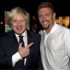 England cricketer Jonny Bairstow gets bonus points for taking his final Movember update pic with Boris Johnson.