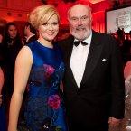 Cecilia Ahern and David Norris.