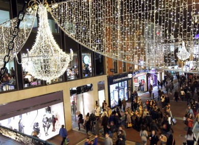 In Pictures Christmas Lights Turned On Grafton Street