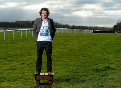 Stephen Hunt: at Punchestown yesterday to launch Blue Square's sponsorship of the John Durkan Memorial Chase Day.