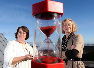 Kathleen McLoughlin (left), Chief Executive Officer, the Irish Wheelchair Association Anne O'Leary (right), Business and Enterprise Director, Vodafone Ireland  and at the launch of an innovative new mobile app