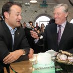 And shooting the breeze with RTÉ's Pat Kenny. Image: Mark Stedman/Photocall Ireland
