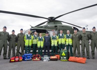 The launch of the Emergency Aermedical Service in Custume Barracks in Athlone.