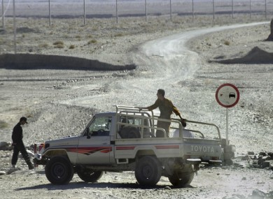 File photo of the Afghan border in Iran, near the area where the earthquake struck today.