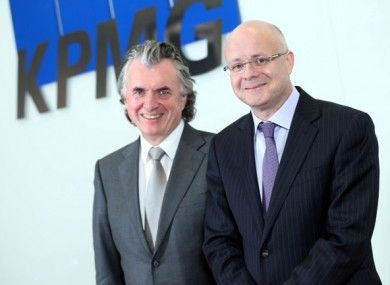 Terence O'Rourke and incoming Managing Partner at KPMG, Shaun Murphy (l-r)