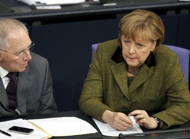 The Christian Democrats of Wolfgang Schauble (left) and Angela Merkel are neck-and-neck with an opposition coalition in elections in Lower Saxony.