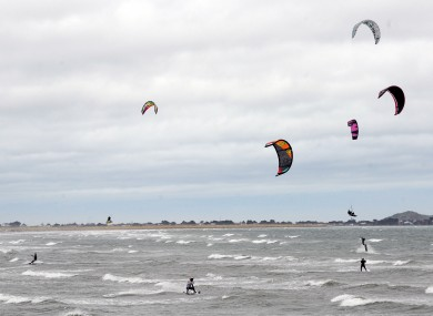 Kite surfers on Dollymount strand (file photo).