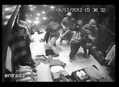 Footage of the robbery used as a basis for Reserva's new ad.