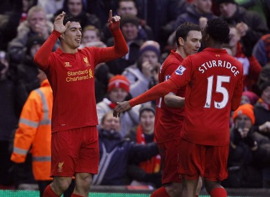 Liverpool pair Suarez and Sturridge.